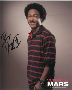 Percy Daggs III (Veronica Mars) - Genuine Signed Autograph 8341